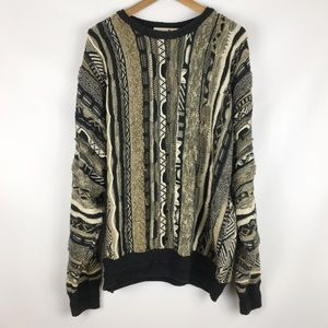 vintage | textured ugly grandpa sweater 0731